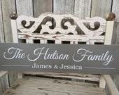 CUSTOM -SOLID- Family Sign (5.5in x 24in) - Home Decor - Perfect Gift