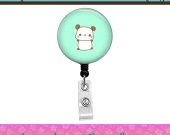 Kawaii Panda Nerdy Brocolli Green Retractable Id Badge Reel. Custom Requests Welcome. See Announcements for Discount Coupon.