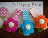 Toddler Hair Clip Girls Hair Clip Infant Hair Clip Children Hair Accessory Wool Felt Flower Hair Clip