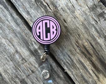 Monogram Badge Reel, Monogram Badge Holder, Monogram Badge Clip, Badge Reel, Badge Holder Retractable, Badge Reel Nurse