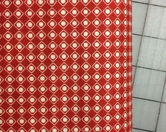 HALF YARD cut of Riley Blake - Off Shore  - by Deena Rutter C4926 in Red -   100% cotton