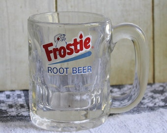 Frostie Root Beer Glass Mug - Vintage - Collectibles - Advertising - 1960s - Drinkware - Man Cave Decor