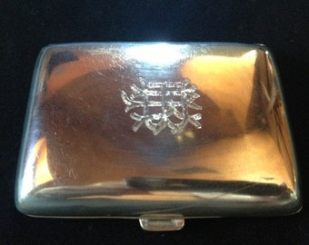 Antique Victorian Hallmarked Sterling Silver Calling Card Case