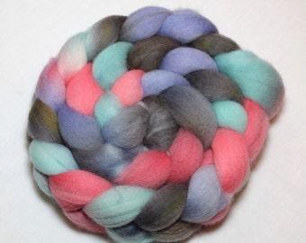 Handpainted Roving - Sprinkles - Falkland Wool, 4 Ounces.