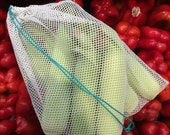 Produce bag - Veggie bag - Fruit bag - Lingerie bag - Toiletry bag - Mesh bag - Set of 4