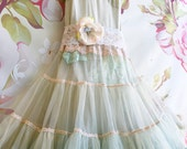 Balance for Jamie three tiered nylon chiffon ruffled cupcake babydoll dress by mermaid miss k