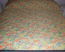 French, Vintage, Hand Stitch Quilt, Reversible, King Size , Stunning, Gorgeous,Beautiful Boutis.