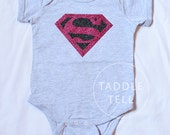 SUPERMAN, Super Girl Halloween t shirt/onesie - You pick size