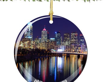 Philadelphia Porcelain Christmas Ornament Decoration