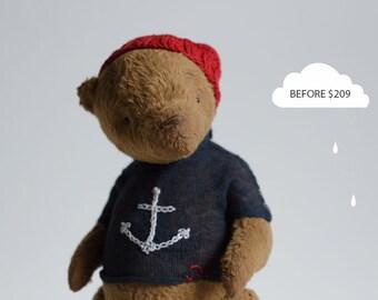 SALE 20% OFF Stuffed Animals Brown Teddy Bear Kolya Soft Toys