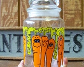 Vintage Hildi Animated Vegetable Carrot Jar, Retro Storage Containers from the 70s - tithriftstore.etsy