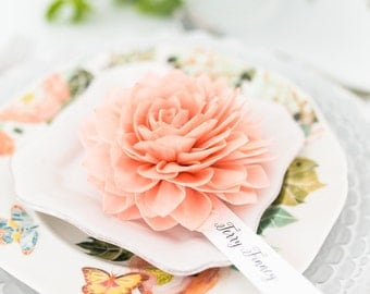 Coral Wedding Place Cards, Coral Place Cards, Bridal Shower Decor, Wedding Escort Cards