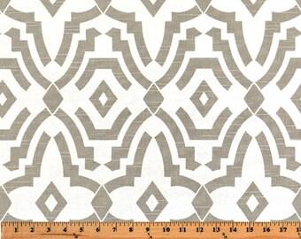 1 yard Ecru Chevelle  - Home Decor Slub Fabric  - Premier Prints  - Taupe Beige White