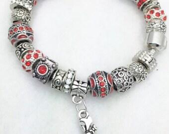 Red Riding Hood Charm Bracelet