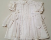 Vintage White Dress and Pinafore with lace detail- size 24 months -New, never worn