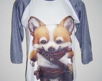 Cowboy Dog Puppy Shirt Dog T shirt Funny Shirt Men Tshirt Dog Lover Gift Women Tshirt Unisex Raglan Shirt Men Tee Shirt S