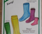 The Green Pepper Un- Cut Pattern for POLAR SOCKS for Adult's Youth and Children F890 Easy to sew, knee and calf socks made with POLAR fleece