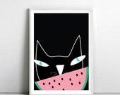 Cat lovers poster, Kids Room poster, Print, Poster, Cat art, Nursery Art, Crazy Cat Lady, Pop Art, art print by nicemiceforyou