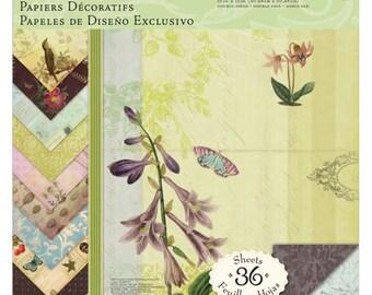 BOTANICAL CARD STOCK, Nature Print Card Stock, Brenda Walton Flora Fauna, Nature Print Card Stock, Flora Fauna Card Stock, Nature Paper Pad