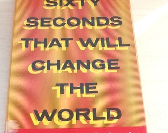 Vintage Hardback book Sixty Seconds That Will Change the World: Coming Tokyo Earthquake-Rare