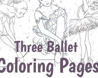 """3 Digital Coloring Pages:  """"The ART of DANCE"""""""