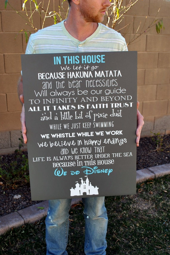 In This House We Do Disney Wooden Sign Disney By Signstoliveby