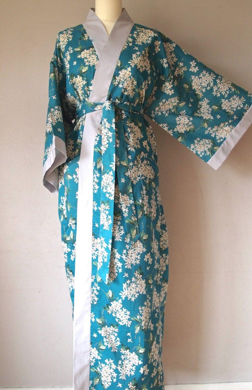 Kimono Style Cotton Robe Liberty Arts Fabric Archive Lilac