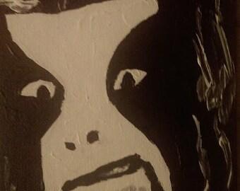 Abbath portrait painting Immortal