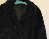 Vintage Astrakhan Black Persian Lamb Coat by Item House