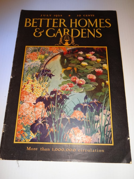 Better Homes And Garden Magazine Vintage July 1928 Home