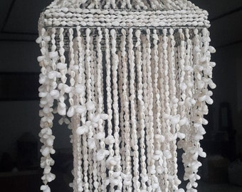 Raindrop White Nassa Chandelier Shade