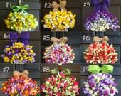spring wreath Easter wreath for front door wreaths country decorations welcome rustic wedding front door wreaths