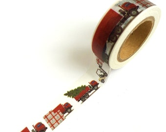 Christmas Washi Tape Trucks
