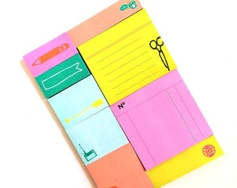 9 Colorful Sticky Notes Pad