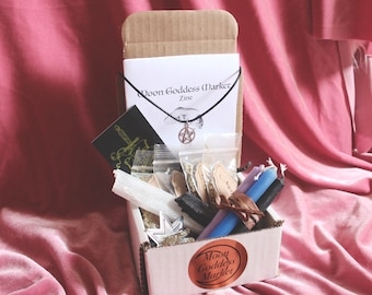 Moon Goddess Market's Magickal Mailer Spell Box | Comes with booklet | lots of goodies and crystals