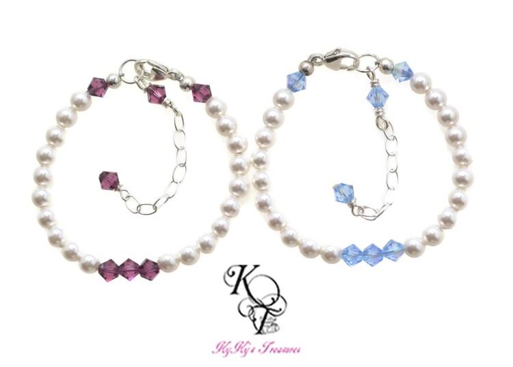 little girl jewelry baby bracelet birthstone by. Black Bedroom Furniture Sets. Home Design Ideas