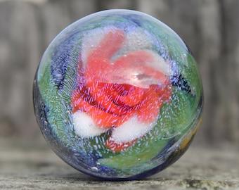 OOAK Galaxy Flower Marble  by PACIFICNWGLASS