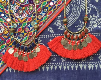 Indah Necklace coin tassel necklace