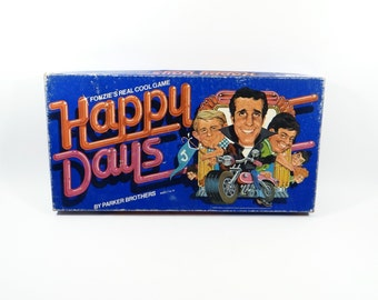 Happy Days Board Game Parker Brothers 1976 - Collectible Vintage Game - Fonzies Real Cool Game