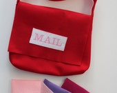 Valentine Mail Carrier Bag and Envelopes - Pretend Play - Dress Up - Toddler - Valentines Day