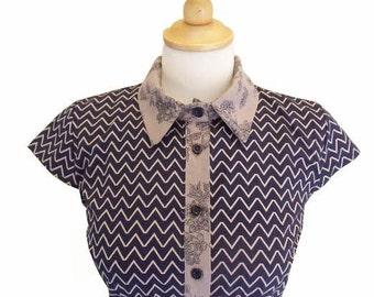 SALE, Blue button up shirt dress, Casual dresses, Formal dresses, Short sleeve dress, Cotton summer dress for women, Pretty dresses