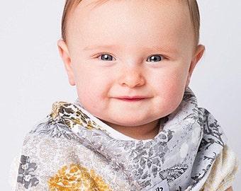 """Modern Bib (Onyx Allure) All in One Scarf & Bib """"Scabib"""" TM for babies or toddlers"""