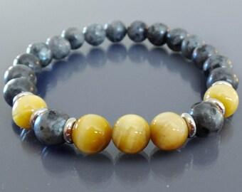 Mens mala bracelet Tiger eye bracelet Black labradorite bracelet Mens bracelet bead Wrist mala beads Healing bracelet mala Zen Energy beads