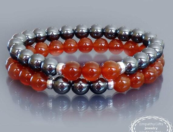 Red Hematite Beads Wrist mala bead...