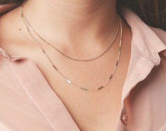 Perfect Gold necklaces layered everyday necklaces dainty gold chain necklace simple minimalist delicate gold filled jewelry.