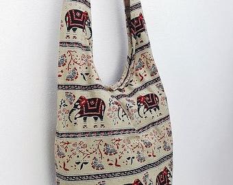 Women bag Handbags Cotton bag Elephant bag Hippie Hobo bag Boho bag Shoulder bag Sling bag Messenger bag Tote bag Crossbody bag Purse Beige