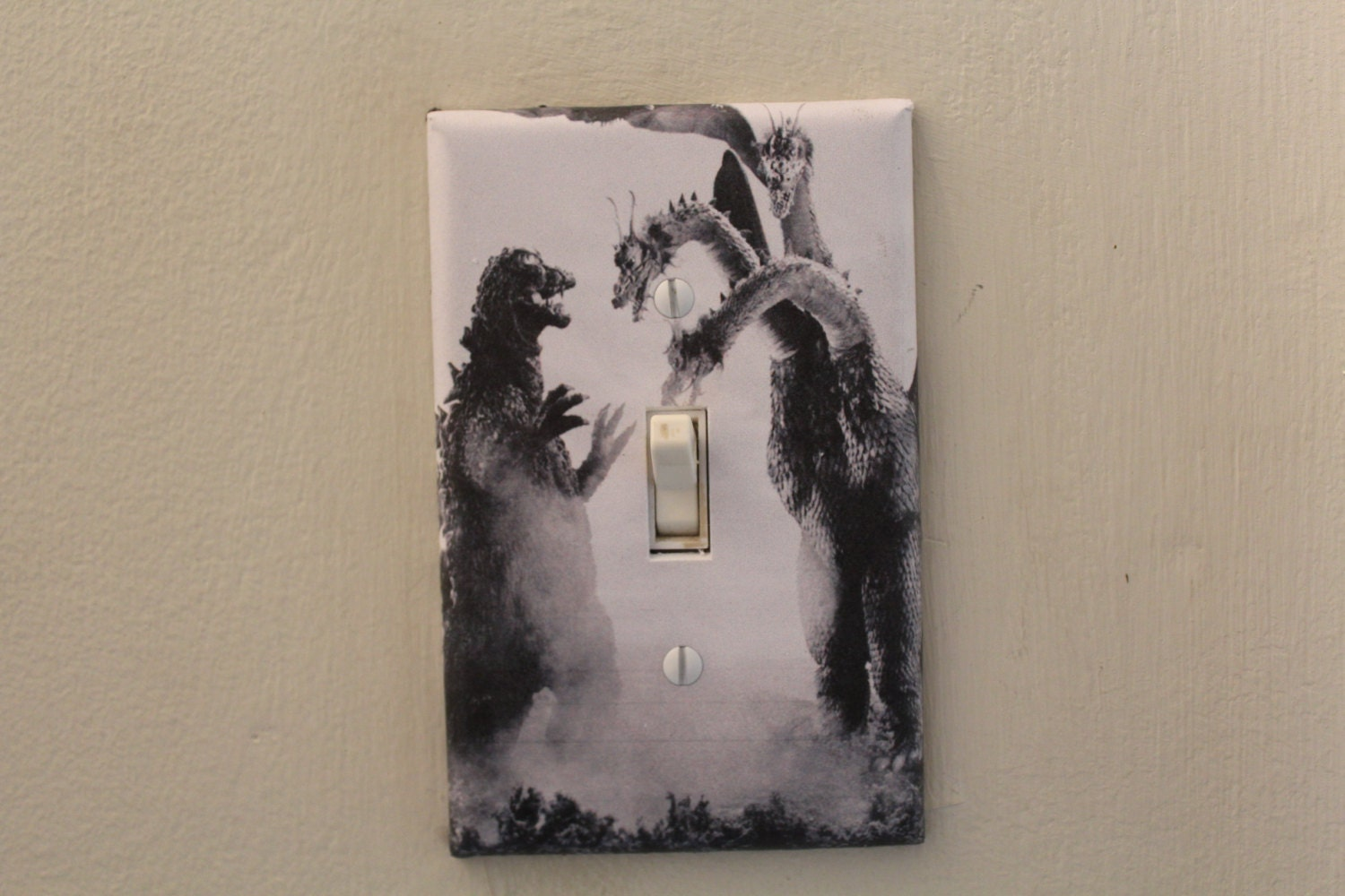 Godzilla decorative light switch cover plate for Unique light switch plates