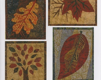 Quilted Greeting Cards -Fall Leaves Pattern by Marlous Designs (MD96416)