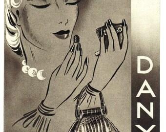 Danyl Purses Advertising Brochure Vintage 1930s Paris Purses