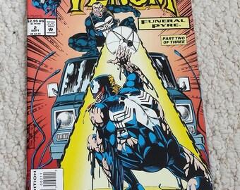 Venom Funeral Pyre Comic Book  Marvel Comics, Vol 1, No 2 September 1993